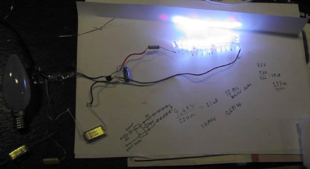 Marvelous Homemade LED White Light Bulb Cheap And Easy