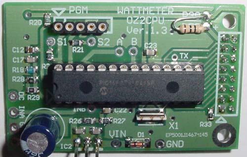 Digital Wattmeter with AD8307, PIC16F876, LCD Display