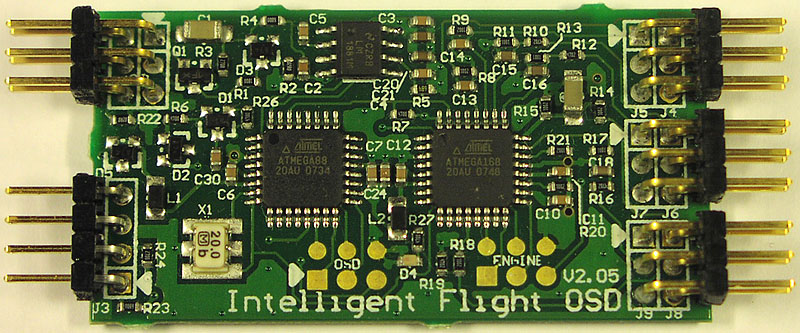 OSD, On Screen Display for RC planes